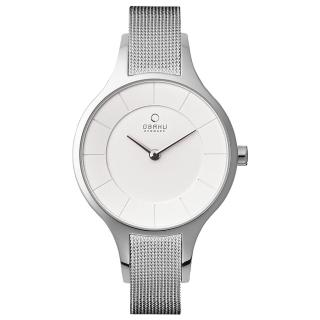 【OBAKU】鳴響時刻時尚米蘭帶腕錶(V165LXCIMC)