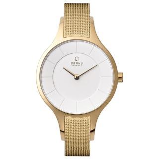 【OBAKU】鳴響時刻時尚米蘭帶腕錶(V165LXGIMG)