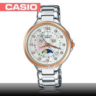 【CASIO 卡西歐 SHEEN 系列】送禮首選_日期顯示_月相顯示_不鏽鋼錶帶_防水_氣質女錶(SHE-3044SG)   CASIO 卡西歐
