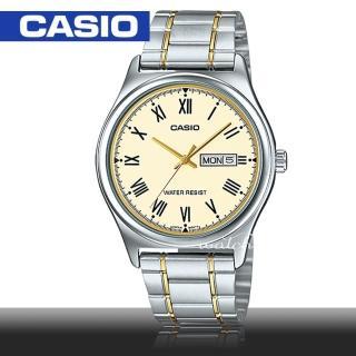 【CASIO 卡西歐】型男必備_不鏽鋼錶帶_日期顯示_生活防水_礦物玻璃_男錶(MTP-V006SG)