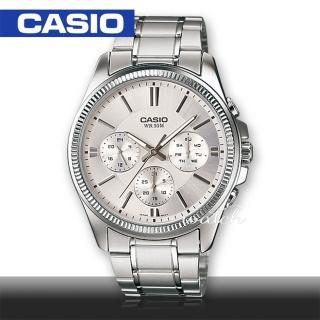 【CASIO 卡西歐】送禮首選-三眼經典紳士男錶(MTP-1375D)  CASIO 卡西歐