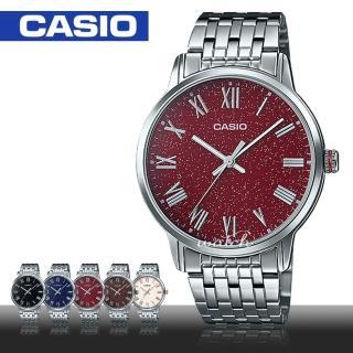 【CASIO 卡西歐】型男必備_不鏽鋼錶帶_羅馬數字_礦物玻璃_防水_男錶(MTP-TW100D)