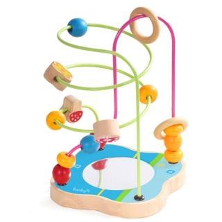 boby木製花朵串珠玩具