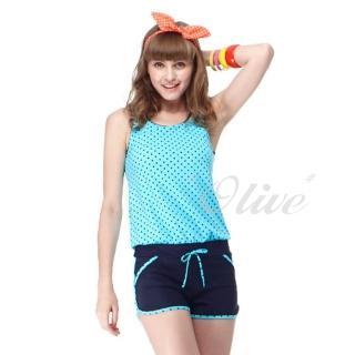 【沙兒斯】時尚二件式連身褲泳裝(NO.B82417)