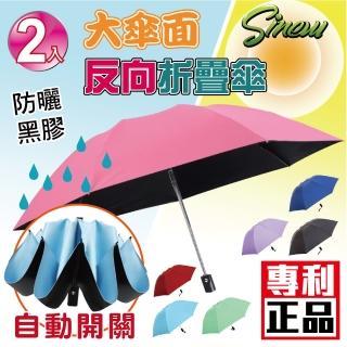 【SINEW優傘鋪】2入自動開關折疊反向晴雨傘(7骨輕巧款)