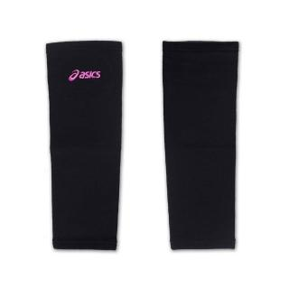【ASICS】排球防撞長版軟護膝-巧固球 手球 一只入 亞瑟士(黑紫)