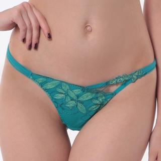 【LADY】漫步香榭系列 低腰丁字褲(綺想綠)