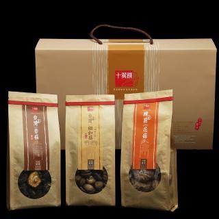 【十翼饌】賀歲新春香菇禮盒 x1盒(新社香菇110g+鈕釦菇110g+韓國花菇120g)