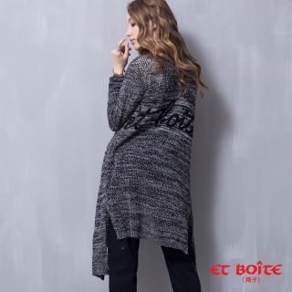 【ET BOiTE 箱子】LOGO針織長版外套