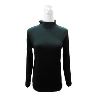 女高領刷毛衣-黑色/桃紅-4件入