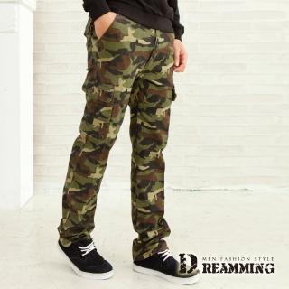 【Dreamming】哈韓迷彩多口袋休閒工作長褲