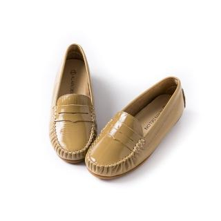 【ALAIN DELON】真皮平底休閒鞋A77200(3色   黑色 紅色 可可色)