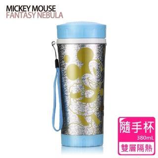 【迪士尼Disney】晶瑩雙層隔熱隨手杯(380ml)