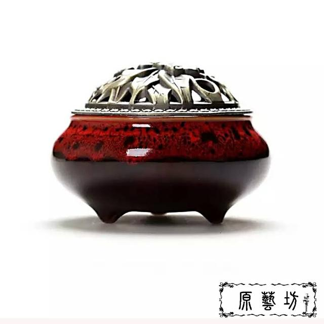 【原藝坊】窯變銅蓋香爐(五種顏色)
