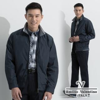 【Emilio Valentino】商務休閒防風薄夾克_深藍(66-5K7161)