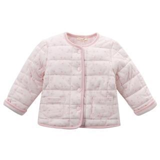 【Dave Bella】保暖鋪棉長袖棉襖外套 - 淡粉梅花(DB4716-pink)
