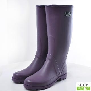 【Neon Walk 尼沃】長筒雨靴-紫色(雨鞋 雨靴 長筒雨靴)