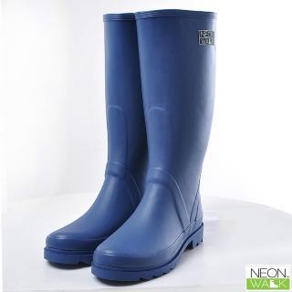 【Neon Walk 尼沃】長筒雨靴-藍色(雨鞋 雨靴 長筒雨靴)
