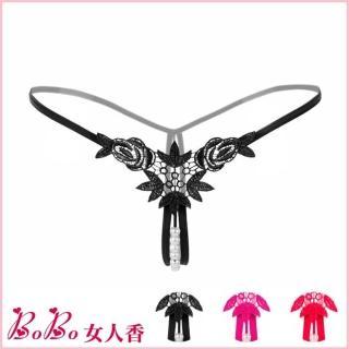 【BoBo女人香】閨房迷情珍珠按摩開檔內褲-性感情趣丁字褲(C2145-3)