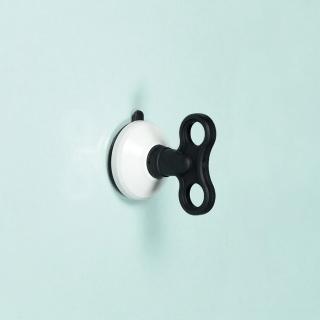 【dipper】強力吸盤壁掛-中(黑白色)