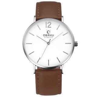 【OBAKU】精粹重現十週年限定真皮錶款(V197GXCWRN)