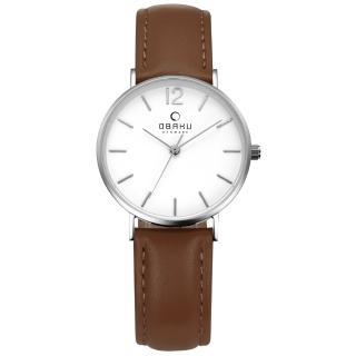 【OBAKU】精粹重現十週年限定真皮錶款(V197LXCWRN)