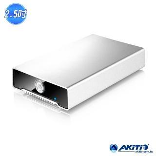 【AKiTiO 艾客優品】冰極光 USB 3.1(2.5 吋 USB3.1 硬碟/SSD 外接盒)