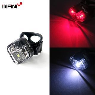【INFINI】ARIA I-220W 多用途LED前後共用警示燈-黑色(前燈後燈尾燈自行車燈)