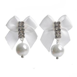 【Lady c.c.】純靜的愛鑽石透明耳環(白)