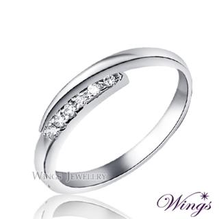 【WINGS】星盼 纖細美麗的優雅 精鍍白K金戒指 尾戒(可做尾戒 對戒)