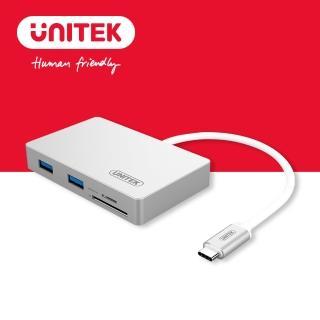 【UNITEK 優越者USB3.1Type-c轉USB3.0HUB+讀卡機】Y-9319