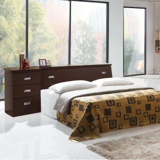 【樂和居】雅典四件式5尺雙人房間組3色可選(床頭箱+床頭櫃+床墊+床底)