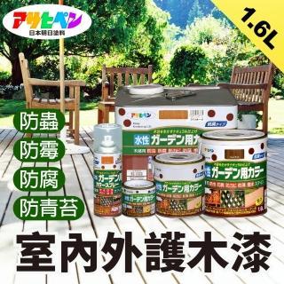 【日本Asahipen】日本製室內/庭院防蟲防腐護木漆1.6L透明色