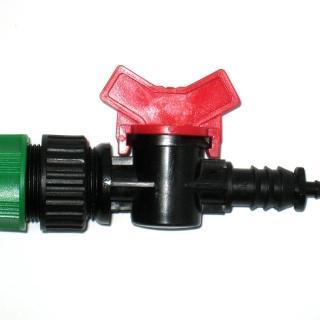 【灑水達人】四分水管轉6mm開關接頭球閥2入