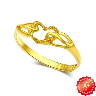 【A+】鏤空爪心 黃金開運尾戒