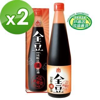 【義美】全豆純釀造滷醬油(520ml/瓶)x2入