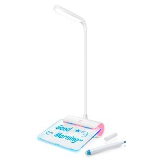 【aibo】USB充電式 LED檯燈夜光留言板