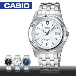 【CASIO 卡西歐】簡約時尚_防水_不鏽鋼錶帶_礦物玻璃_指針男錶(MTP-1213A)