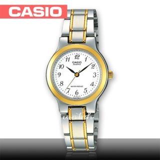 【CASIO 卡西歐】簡約時尚_雙色不鏽鋼錶帶_生活防水_礦物玻璃_氣質指針女錶(LTP-1131G)