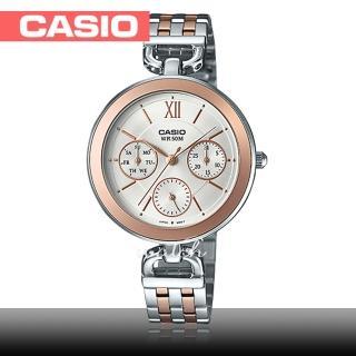 【CASIO 卡西歐】氣質首選_不鏽鋼錶帶_礦物玻璃_防水_指針女錶(LTP-E406BPG)