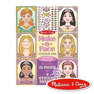 【美國瑪莉莎 Melissa & Doug】大型貼紙簿(妝扮閃亮公主)