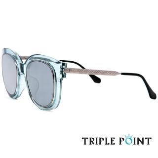 ~TRIPLE POINT 韓國~ 潮流雷雕鏡腳太陽眼鏡 Dalton系列^(~透藍  水