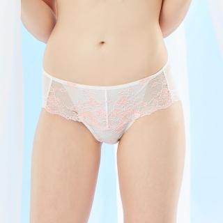 【La Felino內衣】波光粼粼中腰平口褲(白粉橘)