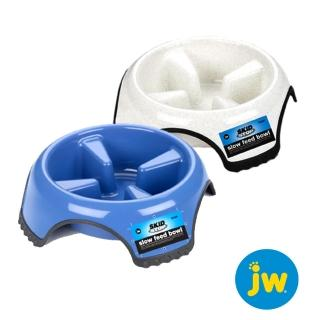 【NEW!!!美國Petmate】JW系列 防滑慢食碗-中(藍、白)