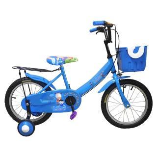 【Adagio】16吋大頭妹打氣胎童車附置物籃-藍色(台灣製造)