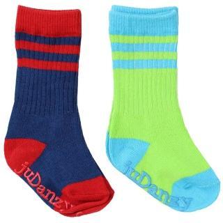 【美國 juDanzy】長襪兩入組_螢光綠與深藍(930)