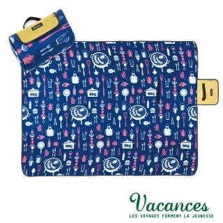 【VACANCES】戶外郊遊 BBQ 提袋式摺疊(超防水 野餐 沙灘墊)