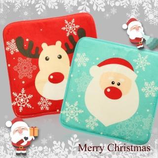 耶誕造型秋冬法蘭絨椅墊坐墊(卡通耶誕造型/坐墊/減壓記憶/法蘭絨椅墊)