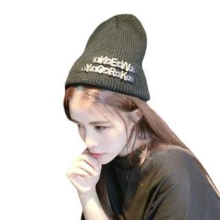 【米蘭精品】針織毛帽毛線帽(時尚潮流個性字母女帽子生日情人聖誕節交換禮物5色73ie37)