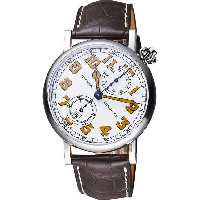 【LONGINES】浪琴 AVIGATION TYPE A-7 1935 復刻機械腕錶(L28124232)